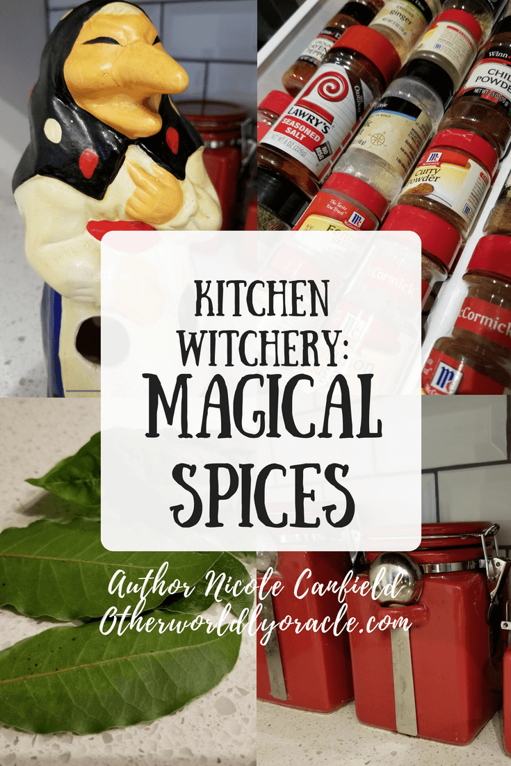 the kitchen witch uses many magical spices - Kitchen Witchery