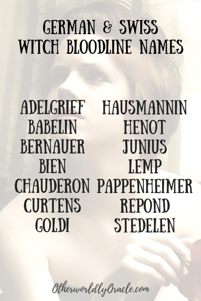 Ancestral Witchcraft: Witch Bloodline Names from Salem