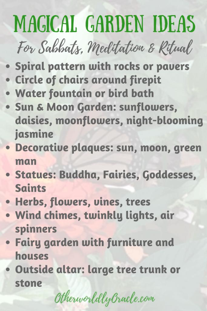 Magical Garden Ideas Create A Backyard Sanctuary For Sabbats Ritual